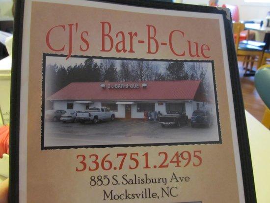 C's Barbecue: Menu Cover