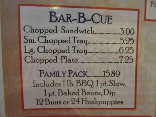 C's Barbecue: Prices