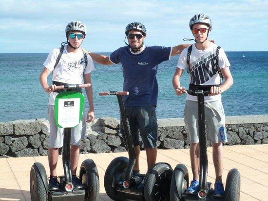 Fliston's Bike : Mein Sohn, Scout Luca und der Kumpel von meinem Sohn nach der Segway-Tour