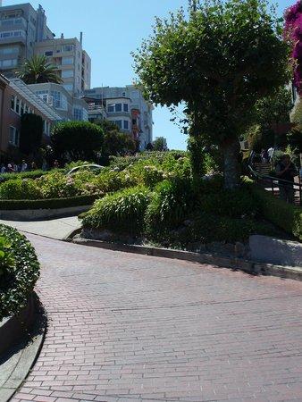 Lombard Street: From the bottom and up