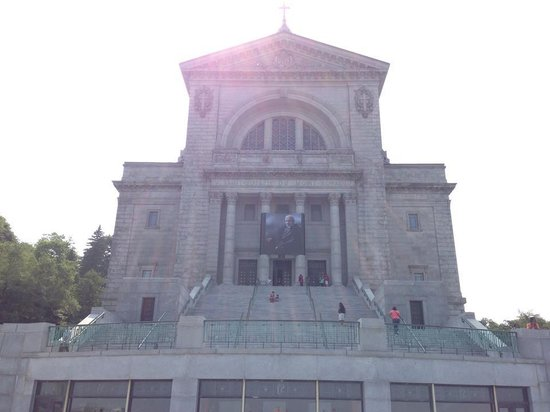 St. Joseph's Oratory of Mount Royal: on top level looking at entrance