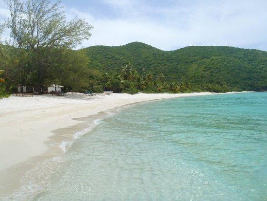 Guana Island: The main beach