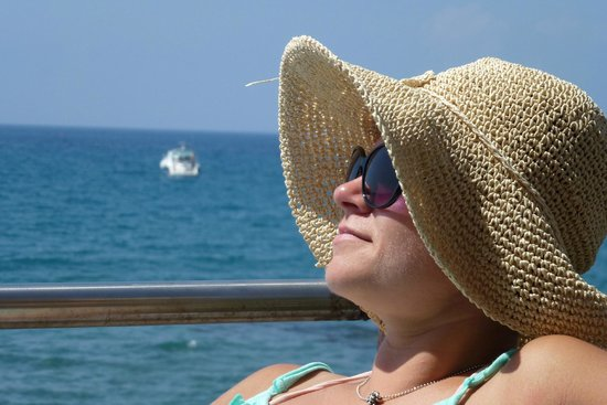 Atlantica Bay Hotel: me posing in tarrace on the beach :)