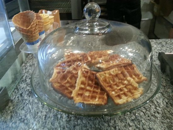 The Baked Bear: You can get waffles instead of cookies or brownies