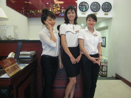 Paradise Boutique Hotel: Vriendelijk vrolijk personeel