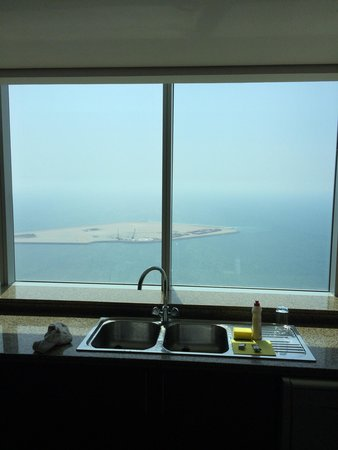 JA Oasis Beach Tower: Kitchen View, just keep washing those dishes honey ;)