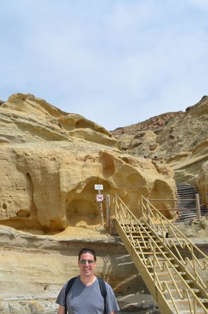 Torrey Pines State Natural Reserve: Stairs that lead to the beach