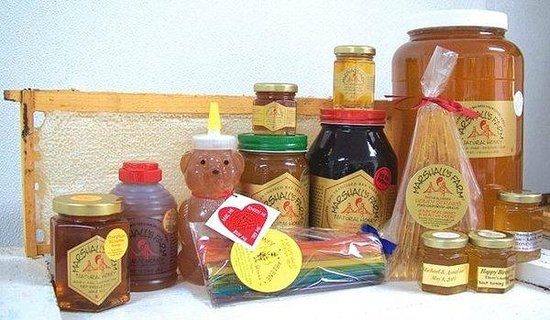 American Canyon, Kalifornien: honey in all shapes and sizes