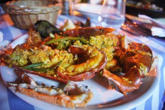 Marisqueria El Faro: Paella mit Hummer