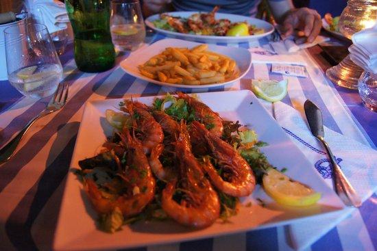 Marisqueria El Faro: Gegrillte Scampi