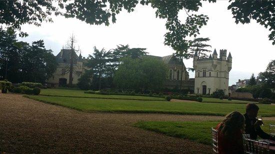 Chateau de Challain: view of lawn