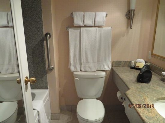 Hotel Grand Pacific: bathroom with tub & shower