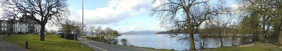 Cameron House on Loch Lomond: Panoramic view of Loch Lomond from Cameron House