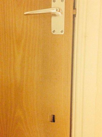 Whitbarrow: Hole in wardrobe door