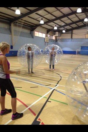 Bay Bubble Football: Girls bubble football