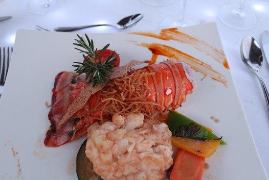 Hyatt Zilara Cancun: Lobster at Romantic Dinner