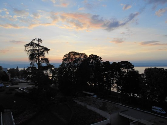 Hilton Evian-les-Bains: View from our window.