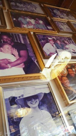 CHEZ BLACK: Wall of photographs of celebrities who have been to the resturant