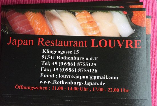 Japan Restaurant Louvre: Highly recommended !!