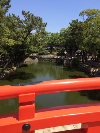 Sumiyoshi Taisha Shrine: 太鼓橋からの風景