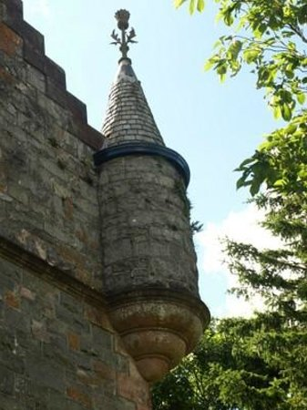 A tiny thistle topped turret on the Stewartry Museum