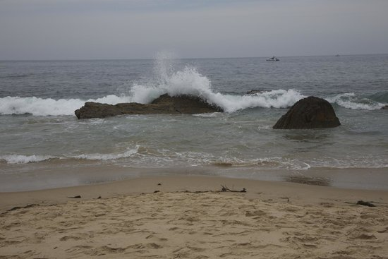 Crystal Cove State Park: Waves on rocks