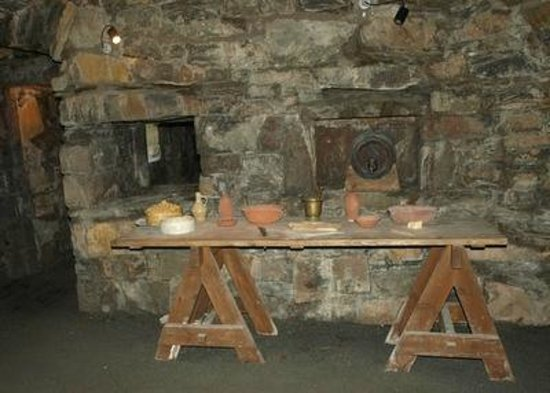Part of kitchen in MacLellan's Castle