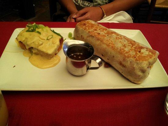 Nola: Burrito with side of cornbread