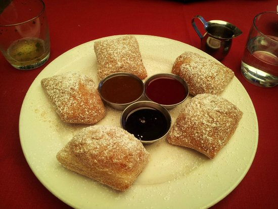 Nola: Beignets with three dipping sauces