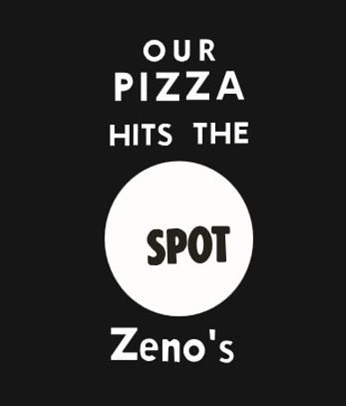 Zenos Pizza: Our Pizza Hits The SPOT, from a 1960's newspaper ad
