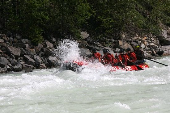 Alpine Rafting: Hitting one of the many rapids