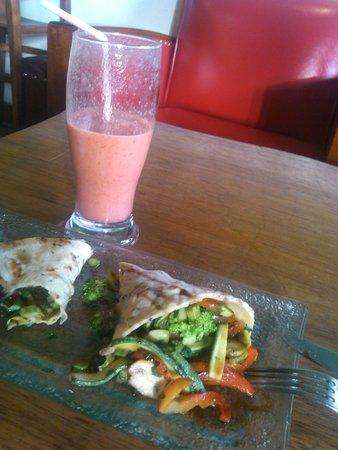 Greens Organic: Wrap vegetariano