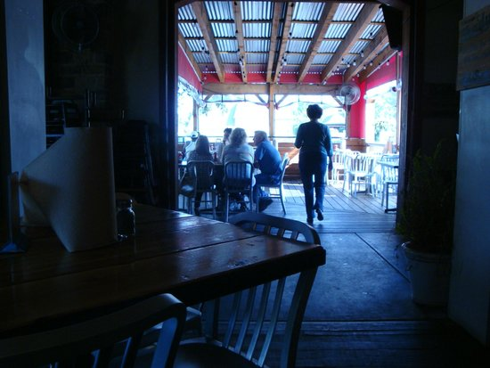 Shady's Burgers: Outside patio seating