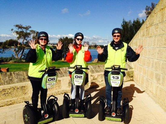 Segway Tours WA - Perth: Enjoying Segway family fun!
