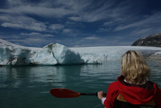Ice Troll Glacier Hiking & Kayaking Day Tours: Kayaking on the Glacier Lake