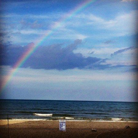 Hampton Inn Jacksonville Beach/Oceanfront : Afternoon Florida storms produce rainbows