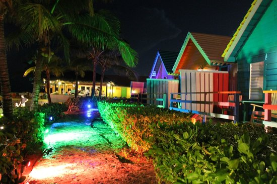 Compass Point Beach Resort: Hotel at night