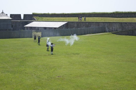 Fortress of Louisbourg National Historic Site: shooting display