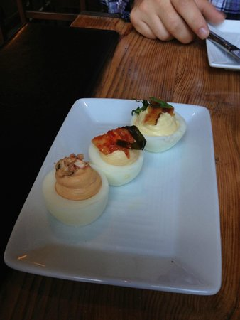 The Black Birch: Deviled Eggs 3 Ways (would recommend)
