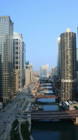 Wyndham Grand Chicago Riverfront : View from room 2817