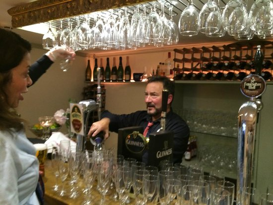 """Walton Court Country House: """"crazy"""" Paul (who we love) manning the bar"""
