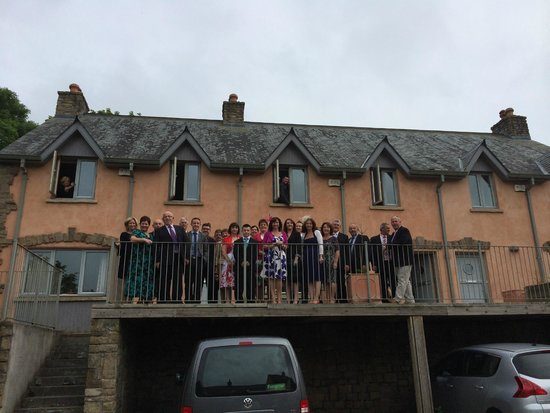 Walton Court Country House: Family from Ireland in front of Apartments (GO WEXFORD!)