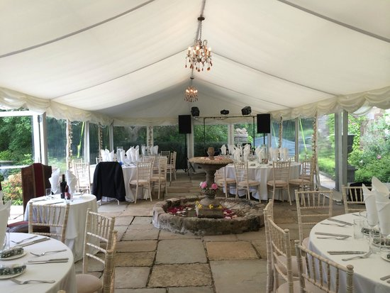 Walton Court Country House: Marquee for the reception