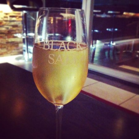 Black Salt Restaurant: Bubbles to celebrate.