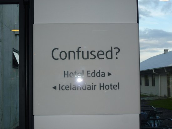 Hotel Edda - Vik i Myrdal : Helpful sign