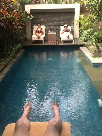 Le Jardin Villas, Seminyak: Good sized pool