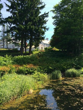 Blair Hill Inn : View of the grounds from the retaining pond
