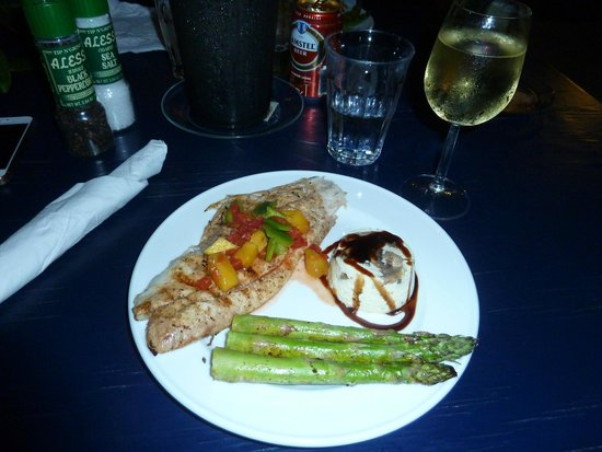 Sol Food: Dinner -red snapper with mushroom cheesecake