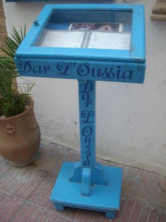 Riad Dar L'Oussia: Riad information stand