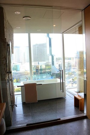 Park Hyatt Seoul: The memorable bathroom among urban landscape